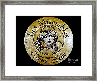 Les Miserables Framed Print