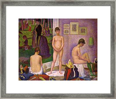 Les Modeles Framed Print by Pg Reproductions