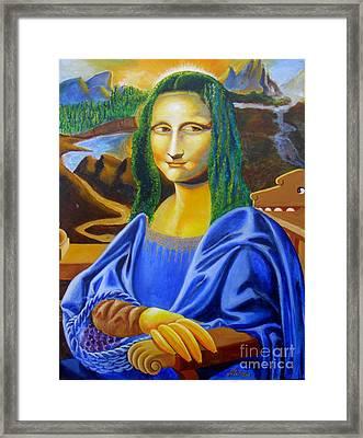Les Mysteres Jocondais Au Code De Vinci   L E P I H Framed Print