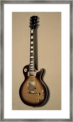 Les Paul Electric Guitar Framed Print by Bill Cannon