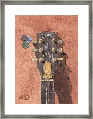 Les Paul Framed Print by Ken Powers