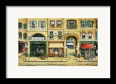 Flower Shop Framed Prints