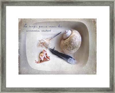 Framed Print featuring the photograph Les Souvenirs by Louise Kumpf