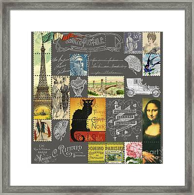 Les Timbres 3 Framed Print by Marion De Lauzun