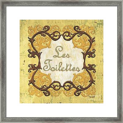 Les Toilettes Framed Print by Debbie DeWitt