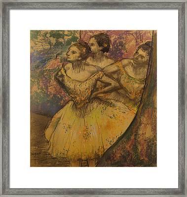 Les Trois Danseuses, C.1896-1905 Framed Print by Edgar Degas