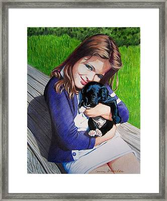 Leslie And Sergeant Framed Print