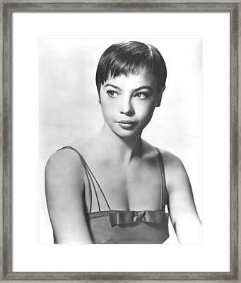 Leslie Caron Framed Print