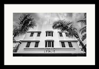 Art Deco Historic District Framed Prints