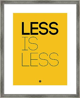 Less Is Less Poster Yellow Framed Print
