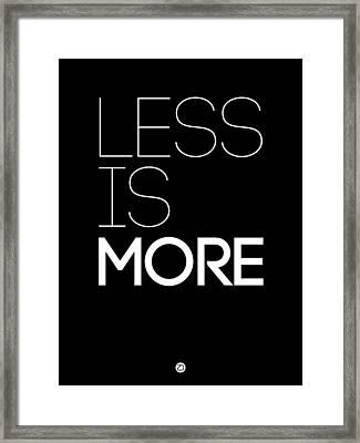 Less Is More Poster Black Framed Print by Naxart Studio