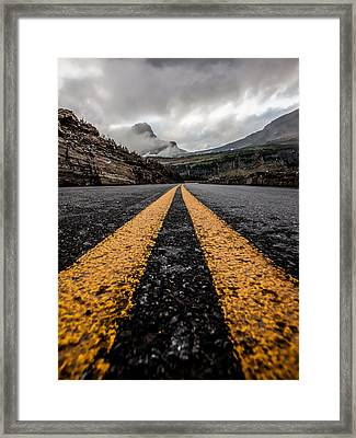 Less Traveled Framed Print by Aaron Aldrich