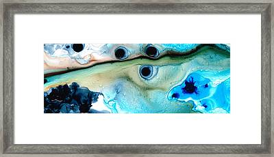Less Traveled Abstract Art By Sharon Cummings Framed Print by William Patrick
