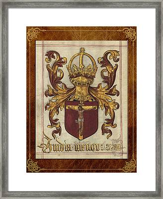 Lesser India - Ethiopia Medieval Coat Of Arms  Framed Print by Serge Averbukh