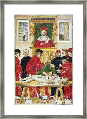 Lesson In Dissection Framed Print by Granger