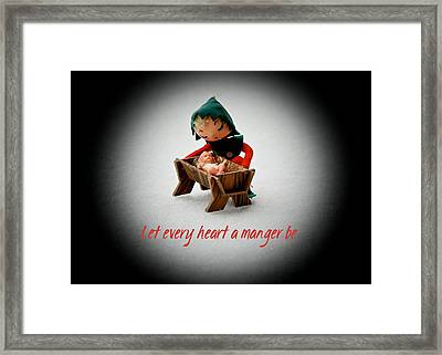 Framed Print featuring the photograph Let Every Heart A Manger Be by Dee Dee  Whittle
