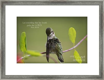 Let Everything That Has Breath Praise The Lord Framed Print