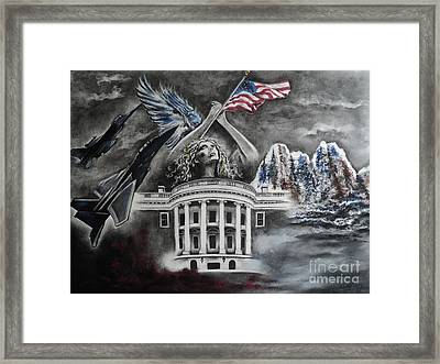 Let Freedom Ring Framed Print by Carla Carson