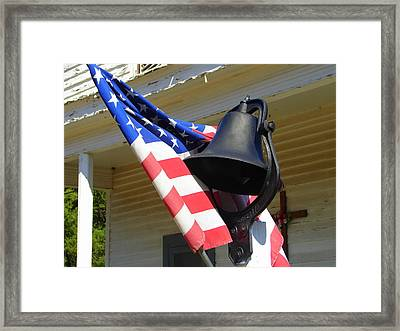 Let Freedom Ring Framed Print by Lew Davis
