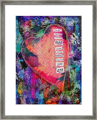 Let Go Framed Print by Kim Thompson