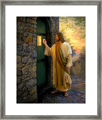 Let Him In Framed Print