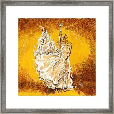 Let It Be Peace In My Soul Framed Print by Karina Llergo