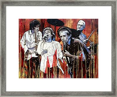 Let It Bleed Framed Print by Bobby Zeik