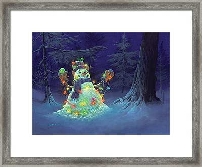 Let It Glow Framed Print