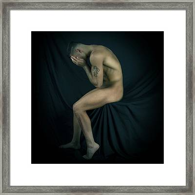 Repenting Framed Print by Mark Ashkenazi