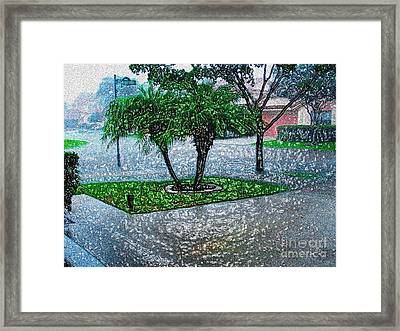 Let It Rain -  Digitally Modified Photo Framed Print