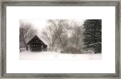 Let It Snow Framed Print by Andrew Soundarajan