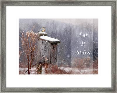 Let It Snow - Bluebirds Framed Print