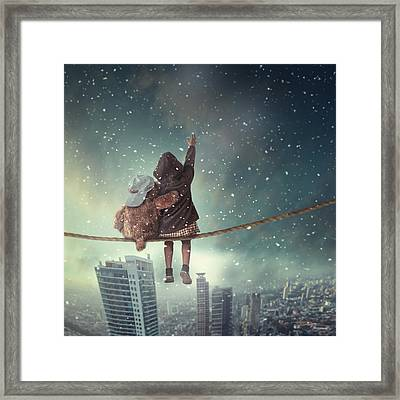 Let It Snow Framed Print by Hardibudi