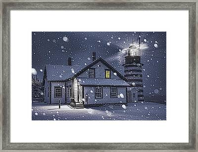 Let It Snow Let It Snow Framed Print by Marty Saccone