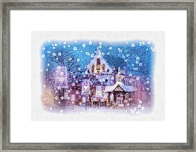 Let It Snow Framed Print by Mo T