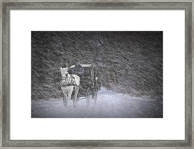 Let It Snow Framed Print by Randall Nyhof