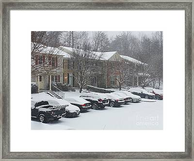 Let It Snow Snow Snow Framed Print by Emmy Marie Vickers
