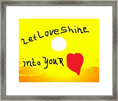 Let Love Shine Framed Print by Earnestine Clay
