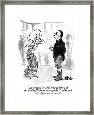 Let Me Guess. You Had It Up To Here Framed Print by Warren Miller