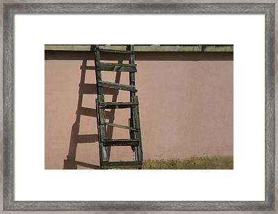Let Me Take My Chances On The Wall Of Death.. Framed Print by A Rey