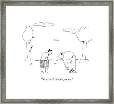Let Me Touch Framed Print by Liana Finck