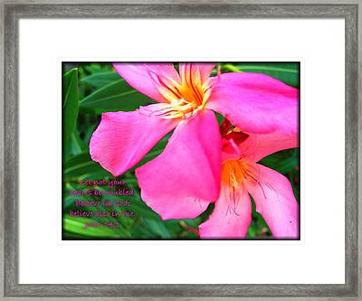 Let Not Your Hearts Be Troubled Framed Print