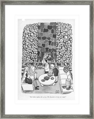 Let Opec Tighten The Screws. The Larned A. Corys Framed Print by Joseph Farris