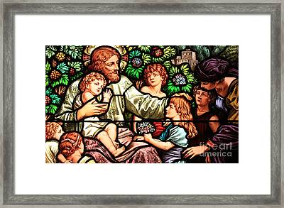 Let The Children Come To Me Framed Print by Adam Jewell