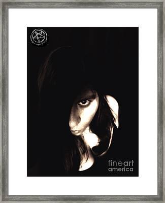 Let The Darkness Take Me Framed Print by Vicki Spindler