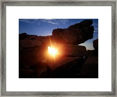 Let The Light Shine Through Framed Print