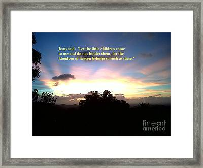 Let The Little Children Come To Me Framed Print