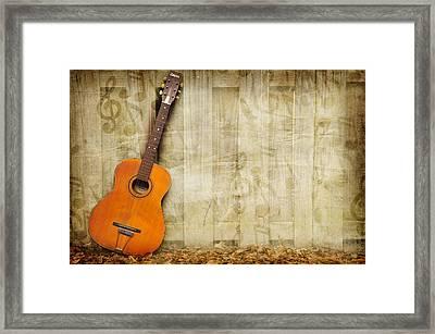 Let The Music Play Framed Print by Davina Washington