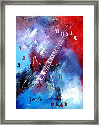 Let The Music Play Framed Print