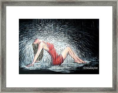 Let The Rain Come And Wash Away My Fears Framed Print by Maren Jeskanen